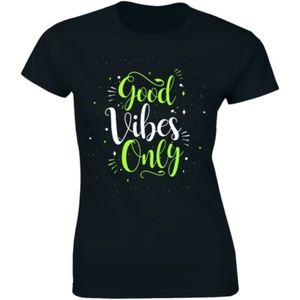 Good Vibes Only Motivational Positive T-shirt Tee